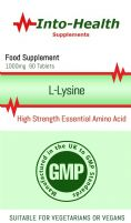 L-Lysine 1000mg x 90 Tablets; High Strength Essential Amino Acid; Into-Health